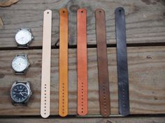 Leather Watch Strap For Timex Weekender, J.Crew Field or Similar Watches 16mm tan or natural finish