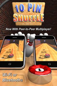 """Retina graphics on the New iPad! 10 Pin Shuffle™ is now Universal! Download once and play on both iPhone and iPad. Now with Game Center leaderboards and achievements and Retina display support for the New iPad and iPhone 4. 10 Pin Shuffle™ is one of the most addictive, """"pick up and play"""", 3D bowling games available in the App Store and now you can experience it on the iPad and iPhone with Enhanced High Detail Graphics!"""