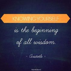 Knowing Yourself.....