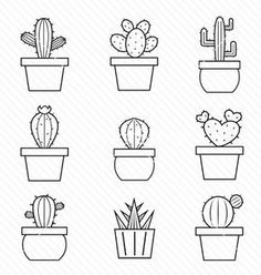 I love cactus doodles. I love cactus doodles. Simple Illustration, Illustration Cactus, Cactus Vector, Cactus Drawing, Succulent Drawings, Plant Drawing, Simple Doodles, Easy Simple Drawings, Easy Sketches