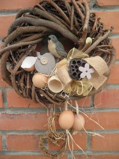 Easter wreath Bunny Crafts, Easter Crafts, Christmas Crafts, Spring Treats, Idee Diy, Easter Wreaths, Summer Wreath, Grapevine Wreath, Diy And Crafts