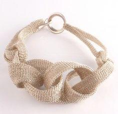 Incredible woven bracelet by Rina Tairo