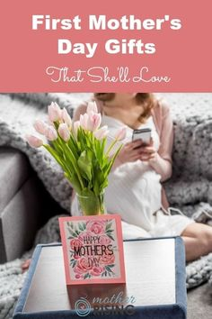 First mother's day gifts are some of the most treasured presents a woman may receive, other than the gift of a child. For her first mother's day, give her a gift she'll love, use often, that will make her feel loved. #giftsformoms #mothersday #mothersdaygifts #giftsunder20 #giftsfornewmoms First Mothers Day Gifts, Happy Mothers Day, Raspberry Leaf Tea, Kids Fever, Baby Massage, After Baby, Pregnant Mom, First Time Moms, Baby Hacks
