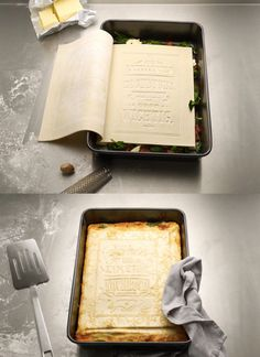 A real cookbook made out of pasta!