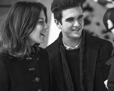 A private glimpse of Morgane Polanski and Gabriel-Kane Day-Lewis during the Fay Fall-Winter 2016/17 campaign shoot.