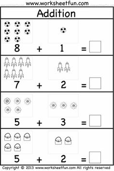 The best selections of free preschool printable activity sheets are available for you with high quality exercises. Kindergarten Addition Worksheets, Pre K Worksheets, Free Printable Math Worksheets, In Kindergarten, Addition Activities, Letter Worksheets, 4 Year Old Activities, Math Addition, Free Preschool