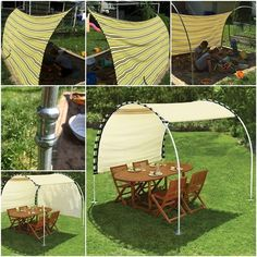 This sun shelter looks so nice. It is an adjustable canopy that provides respite from the sun any time of the day without requiring relocation. But unfortunately, this item is no longer available at Hammacher. So I did some research and fount an idea which made a similar adjustable outdoor …
