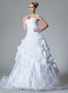 Standing out from the rest and making your own unique statement in this fabulous dress! Only $236.99! Ball-Gown Sweetheart Chapel Train Taffeta Organza Wedding Dress With Ruffle Lace Beading (002000060) http://www.dressdepot.com/Ball-Gown-Sweetheart-Chapel-Train-Taffeta-Organza-Wedding-Dress-With-Ruffle-Lace-Beading-002000060-g60 Wedding Dress Wedding Dresses #WeddingDress #WeddingDresses