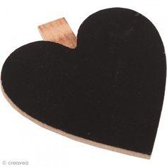 Mini pizarra corazón - clip pinza - 6,5 cm - Fotografía n°1