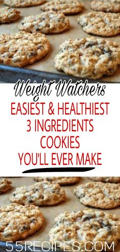 Easiest (and Healthiest) Cookies You'll Ever Make WeightWatchers Healthy SkinnyRecipes Recipes Smartpoints easy cookies LowCarb WeigthWatchersRecipes weightwatchersdesserts 766526799058454012 Weight Watcher Desserts, Weight Watcher Cookies, Weight Watchers Diet, Healthy Cookies, Healthy Sweets, Healthy Dessert Recipes, Healthy Snacks, Diabetic Snacks, Sweets Recipes