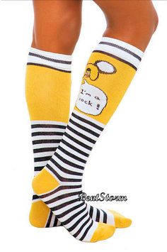 a4abbb80faa Adventure Time With Finn and Jake Knee High Socks I m a Sock Ladies Size