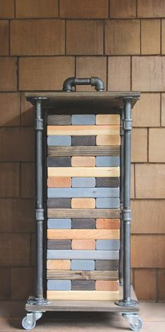 My Sweet Savannah: ~giant jenga diy with industrial storage~{thrifty Thursday}