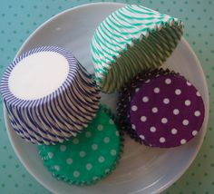 Cupcake Liners  Baking Cups  Teal Green and by CakesAndKidsToo, $4.80
