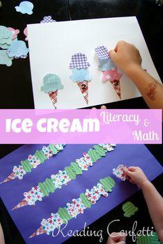 Ice Cream Literacy and Math ~ Reading Confetti
