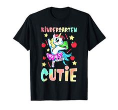 Kindergarten Cutie Einhorn T-Shirt Kindergarten, Branded T Shirts, Fashion Brands, Unicorn, Usa, Mens Tops, Design, Stuff To Buy, Shopping