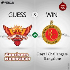 GUESS and WIN this #IPL! Guess 1st innings score. 10 Lucky winners will win Rs. 25 ! You need to comment the guessed score before the match, #PlayRummy #Rummy