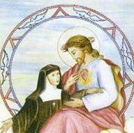 JESÚS con santa MARGARITA MARGARITA MARÍA DE ALACOQUE