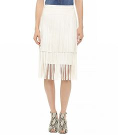 Street Style Trend Report: Fringe Skirts via @WhoWhatWear | BCBG