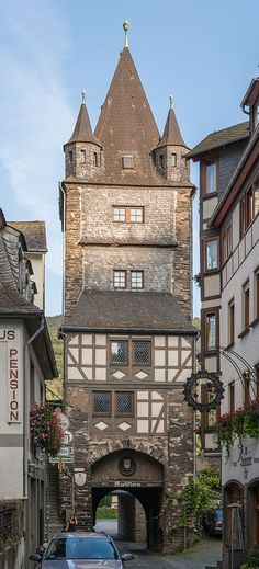 The Marktturm (Market tower) of Bacharach, as seen from west