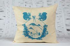 Squirrelland by evuska Throw Pillows, Toss Pillows, Cushions, Decorative Pillows, Decor Pillows, Scatter Cushions