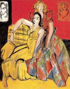 Two Girls - 1941 - Henri Matisse - Painting Collage, Collage Art, Painting & Drawing, Collages, Painting Lessons, Henri Matisse, Matisse Art, Matisse Paintings, Art Antique