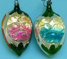 Glas Kerst Ornamenten Bloemen