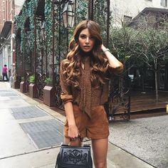 Brown leather shorts #neginmirsalehi
