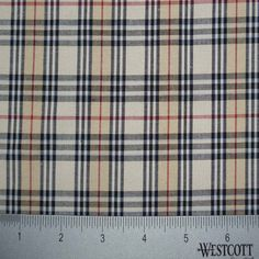 100% Cotton Fabric Checks Collection #4 21 Y D9801TBR - NY Fashion Center Fabrics