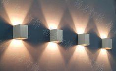 Cheap Envío gratuito de aluminio de pared cuadrado montado llevó la lámpara de 2 * 3w 220Vac para el precio mucho más bajo en contacto con nosotros ahora, Compro Calidad Lámparas LED de Pared para Interiores directamente de los surtidores de China: Difusión direccional de aluminio 2 * 1w luminaria de pared con iluminación hacia abajo y hacia arriba Direccional