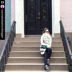 #Repost @wannabefashionblogger  Mr Malachite in action   Majorly missing that (freezing) NYC stoop life and my family vacation. #takemeback #tbt Shop my cold weather outfit (vest and scarf are under $100!) here  @liketoknow.it www.liketk.it/1NVlG #liketkit #LTKunder100 #LTKsalealert #fashionblogger #fashionista #furpom #furfashion #outfit #bagcharm #malachite