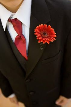 Gerbera Daisy Boutonniere-I like the simplicity of this one