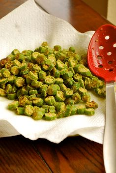fried OKRA, oh my word....just add ketchup♥