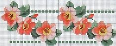 This Pin was discovered by Міл Beaded Cross Stitch, Cross Stitch Borders, Cross Stitch Rose, Cross Stitch Flowers, Cross Stitch Designs, Cross Stitching, Cross Stitch Embroidery, Cross Stitch Patterns, Embroidery Patterns Free