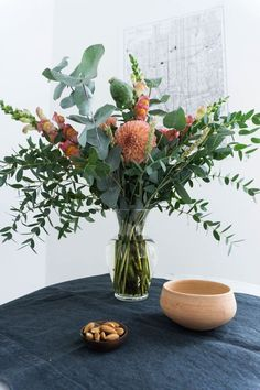 Whimsical Spring Bouquet, Scandinavian Interior Style, Scandi Kitchen Flowers - Berlin Apartment / RG Daily Blog