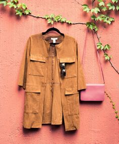 The perfect suede fall coat.