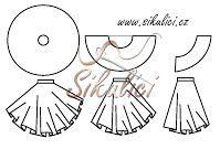 střih na kolovou sukni - postup výroby