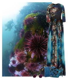 """""""Sea Urchin Mimicry"""" by flowerchild805 ❤ liked on Polyvore featuring Elie Saab, Miu Miu and Burberry"""