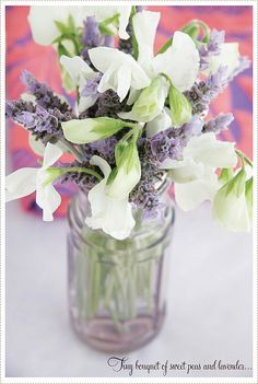 Sweat peas and lavender.