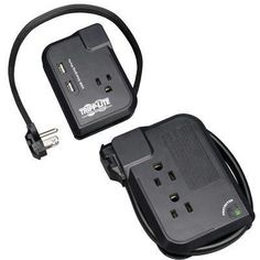 Tripp Lite's portable surge suppressor offers complete surge suppression for laptops, electronic notepads, personal organizers and other portable electronic devices. Compact and portable, Electronic Devices, Mobile Accessories, Computer Accessories, Usb, Buy Mobile, Personal Organizer, Organizers, Compact