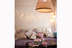 Colores pasteles y mucha luz, en el living - Foto: Victoria Schiopetto