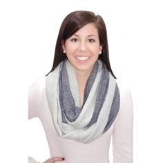 Navy Chevron Color Block Infinity Scarf. #scarf  #fashion 9thelm.com