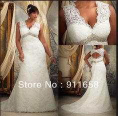 923cd3b63e9 Good for a fuller figure. Love the back. Big Wedding Dresses