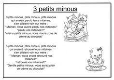 3 petits minous Lectures, France, Nursery Songs, Music Lyrics