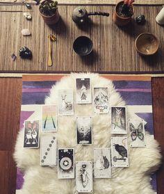via @c_a_mjewelry the wild unknown tarot, tea, year ahead