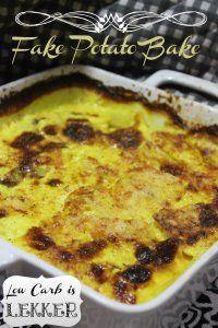 fake potato bake(turnips)- low carb is lekker