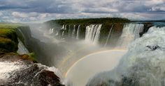 Iguaszu Falls  Thrilling to be in a small boat in the middle of it all!