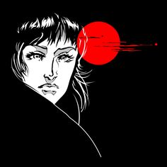 Woman and the Blood Moon