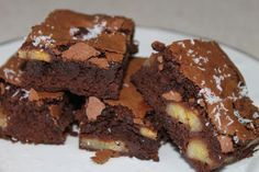 ¡¡Irresistible!!: brownie de moka, chocolate y plátano