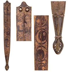 The art style is known as the 'La Tène' style and was used by Celtic peoples throughout Europe. Art motifs include a range of curvilinear patterns and stylised animal heads. These motifs were used to decorate sword scabbards, spearheads and personal ornaments such as brooches (fibula). Art can also be found on stones such as that from Derrykeighan, County Antrim.