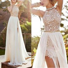 Sexy Lace Long Chiffon Bridesmaid Evening Formal Party Cocktail Dress Gown Prom in Clothes, Shoes & Accessories, Wedding & Formal Occasion, Bridesmaids' & Formal Dresses Prom Dresses 2016, Backless Prom Dresses, Prom Dresses Online, Cheap Prom Dresses, Party Gowns, Wedding Party Dresses, Ebay Dresses, Work Dresses, Dresses Dresses
